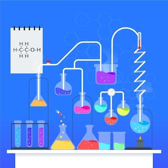 Illustrazione del laboratorio di scienza