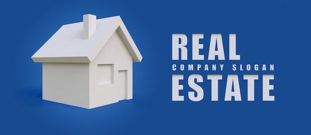 Illustrazione del logo aziendale sotto forma di una casa bianca semplice