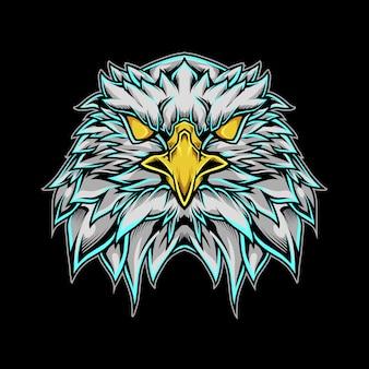 Illustrazione del logo della mascotte della testa dell'aquila