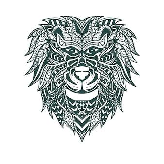 Illustrazione del materiale illustrativo del leone