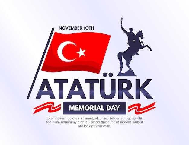 Illustrazione del memorial day di atatürk
