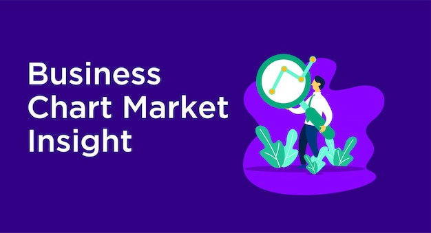 Illustrazione del mercato grafico aziendale