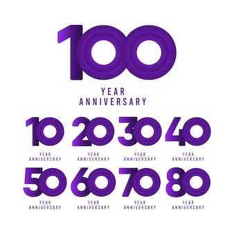 Illustrazione del modello di celebrazione di anniversario di 100 anni