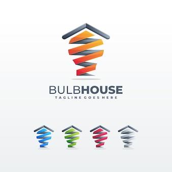 Illustrazione del modello di concetto di alloggiamento casa creativa