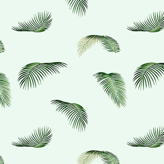 Illustrazione del modello di foglia tropicale
