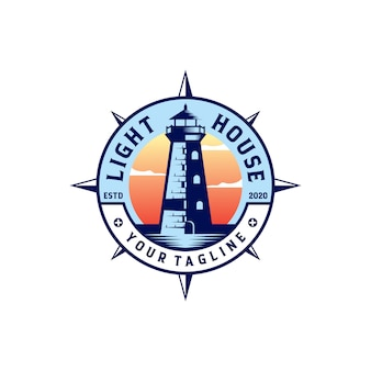 Illustrazione del modello di logo del faro