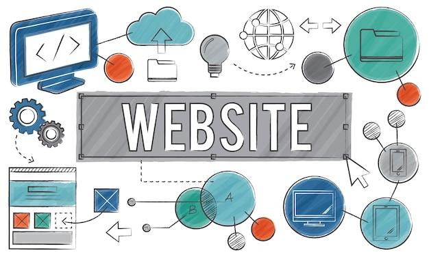 Illustrazione del modello di web design