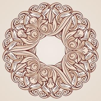 Illustrazione del motivo floreale rosa rosa