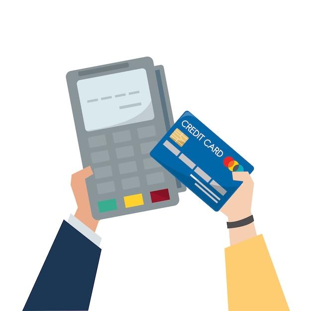 Illustrazione del pagamento con carta di credito
