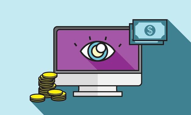 Illustrazione del pagamento online