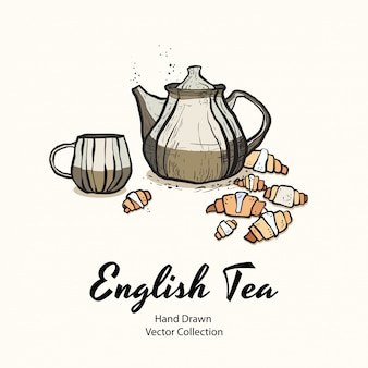Illustrazione del partito del tè