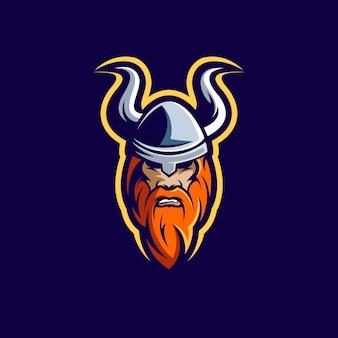 Illustrazione del personaggio di viking impressionante