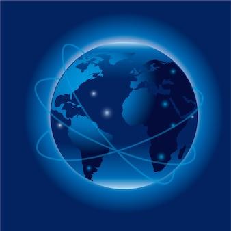 Illustrazione del pianeta blu