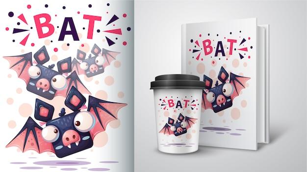Illustrazione del pipistrello del fumetto