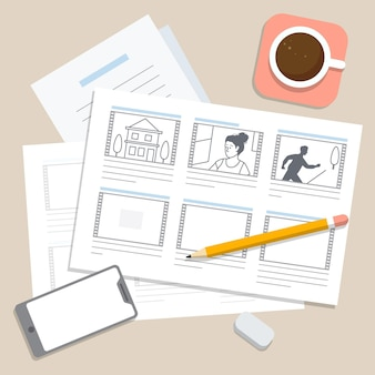 Illustrazione del processo dello storyboard