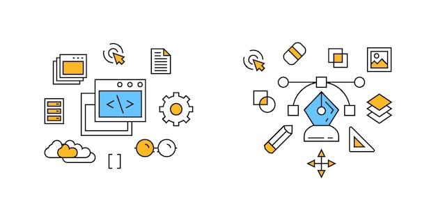Illustrazione del programma e del design