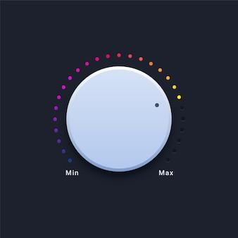 Illustrazione del pulsante volume moderno