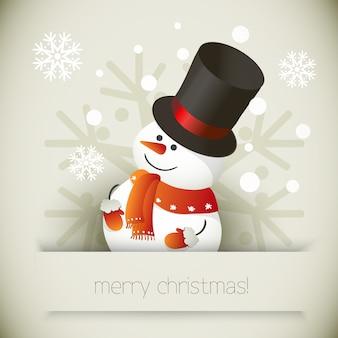 Illustrazione del pupazzo di neve per il disegno di natale.