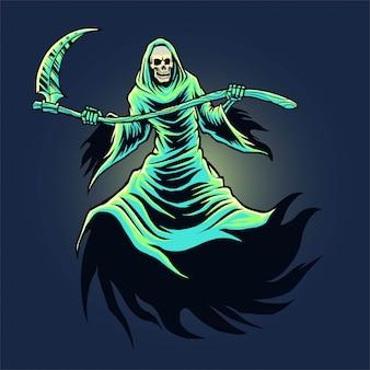 Illustrazione del reaper torvo cranio