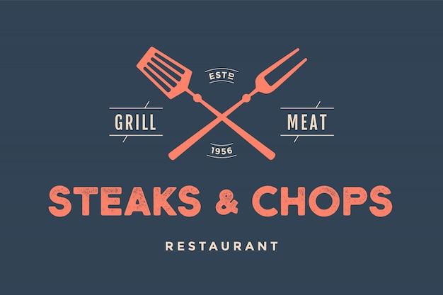 Illustrazione del ristorante di braciole e della bistecca