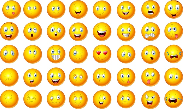 Illustrazione del set di emoticon
