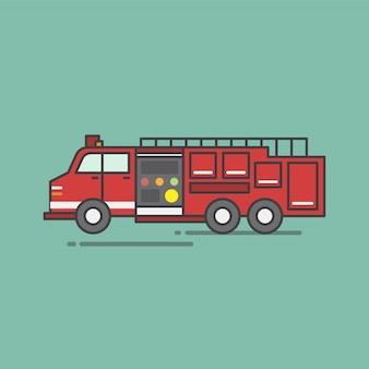 Illustrazione del set di vettore del pompiere
