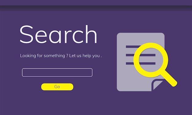 Illustrazione del sito web di ricerca