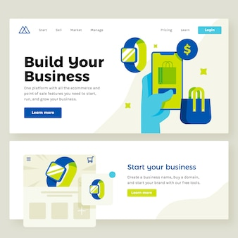 Illustrazione del sito web negozio online e commerce