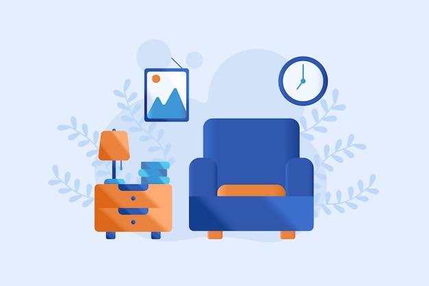 Illustrazione del soggiorno