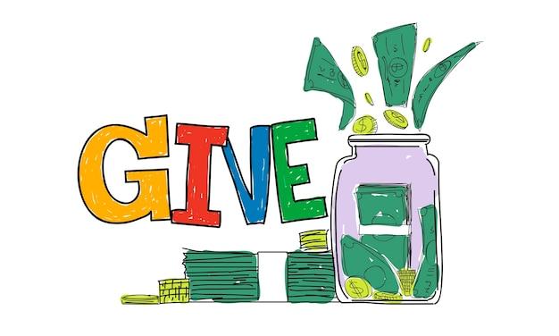 Illustrazione del supporto di beneficenza