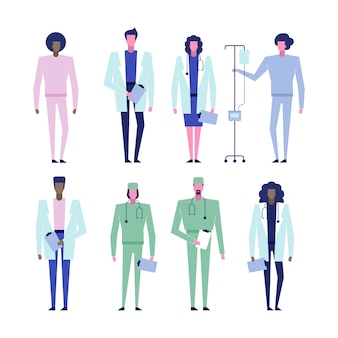 Illustrazione del team medico