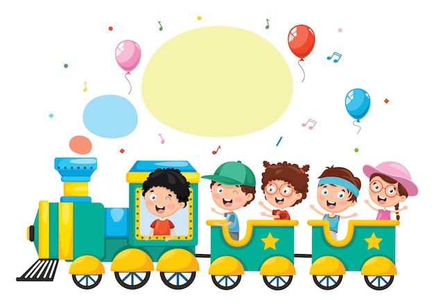 Illustrazione del trasporto di bambini