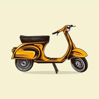 Illustrazione del veicolo scooter