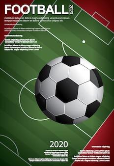 Illustrazione del vestor del manifesto di calcio di calcio