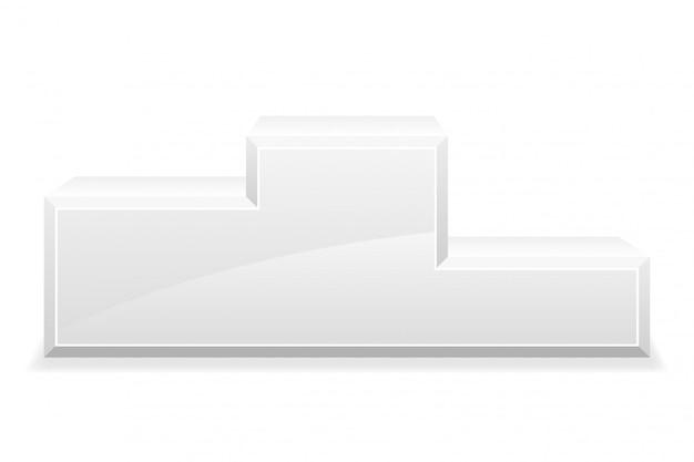 Illustrazione del vettore del piedistallo del podio del vincitore dello sport