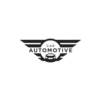 Illustrazione del vettore di progettazione di logo dell'automobile automobilistica