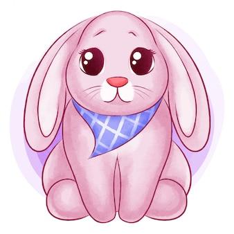 Illustrazione dell'acquerello coniglio carino