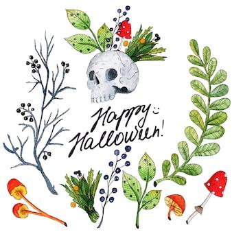 Illustrazione dell'acquerello di vettore per happy halloween