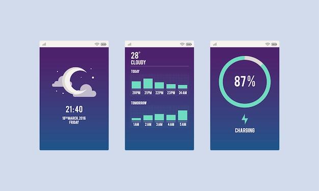 Illustrazione dell'applicazione mobile
