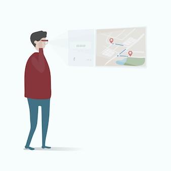 Illustrazione dell'avatar umano utilizzando la tecnologia