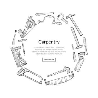 Illustrazione dell'emblema degli elementi di carpenteria