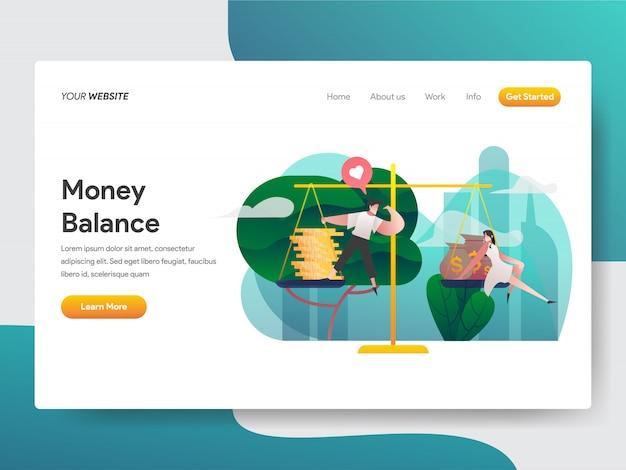 Illustrazione dell'equilibrio di denaro