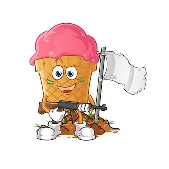 Illustrazione dell'esercito del gelato