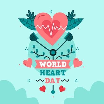 Illustrazione dell'evento della giornata mondiale del cuore