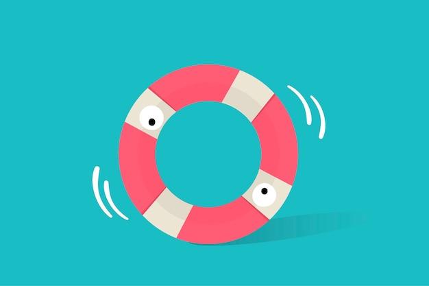 Illustrazione dell'icona del tubo di vita su fondo blu