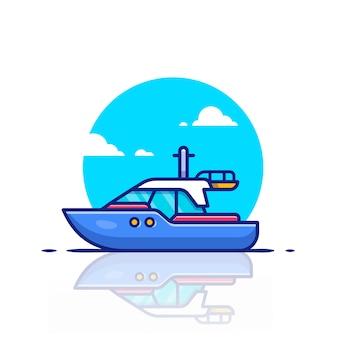 Illustrazione dell'icona della barca di velocità. concetto dell'icona di trasporto dell'acqua.