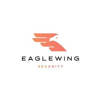 Illustrazione dell'icona di logo dell'uccello dell'ala dell'aquila