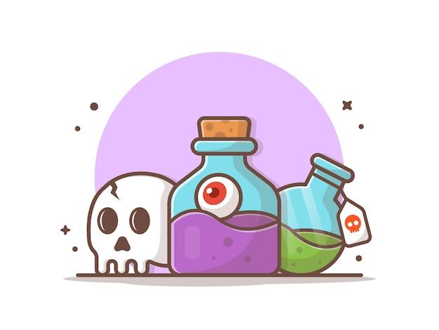 Illustrazione dell'icona di vettore della pozione di halloween