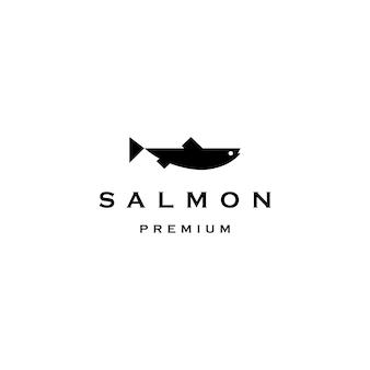 Illustrazione dell'icona di vettore di logo del pesce di color salmone