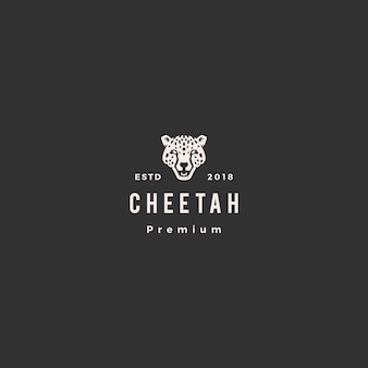 Illustrazione dell'icona di vettore di logo della testa del ghepardo della pantera